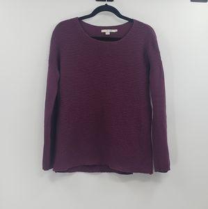 Boden purple cashmere blend knit sweater. Size 6
